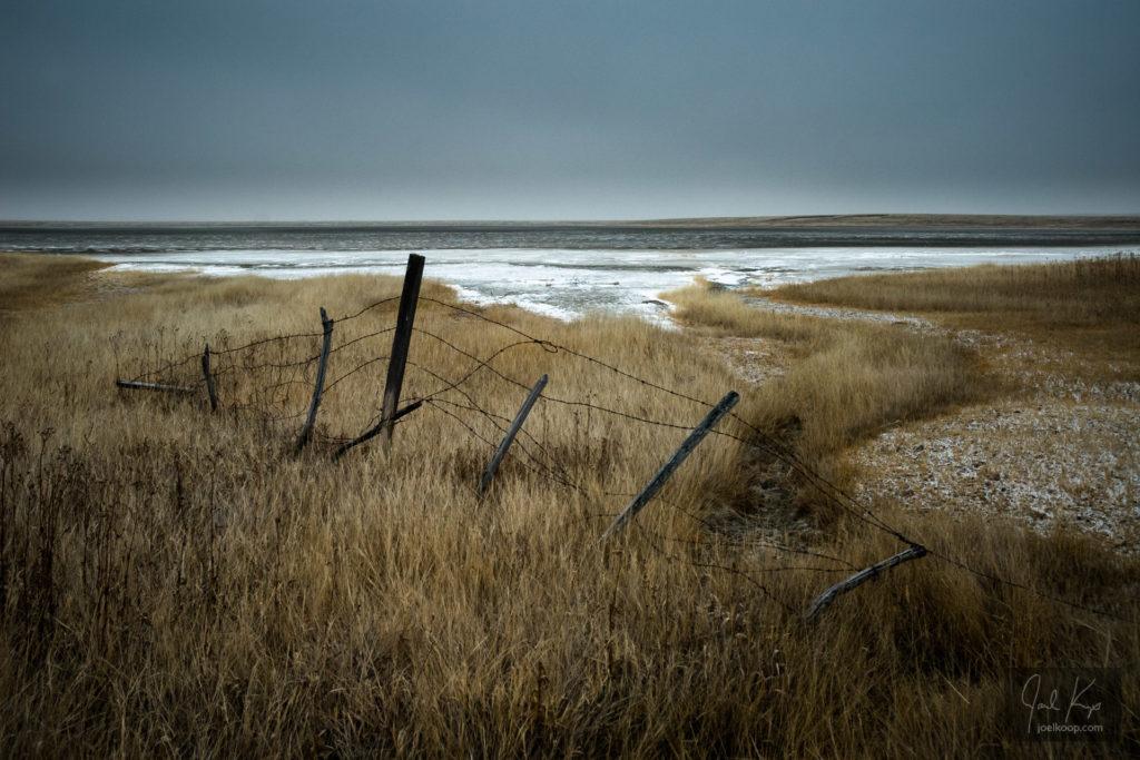 Fence on a Salt Plain