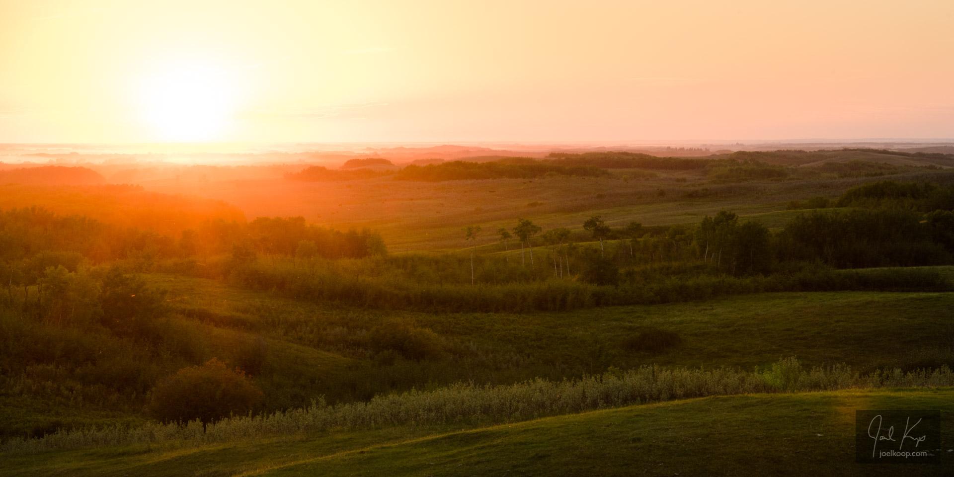 Rolling Parkland Sunset