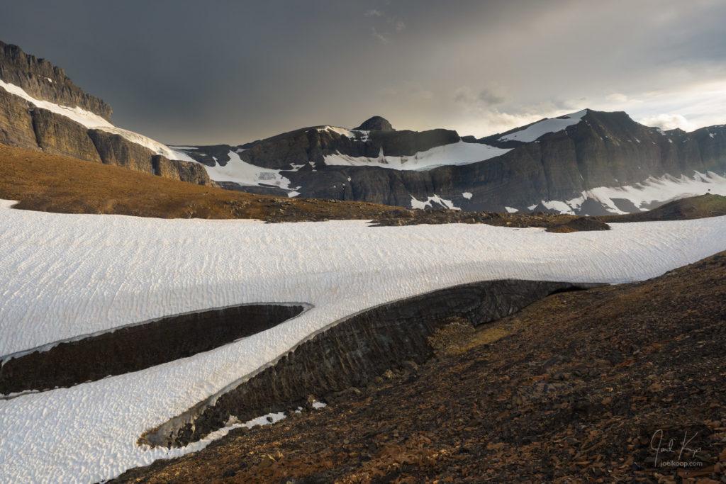 Snow Gracing a Rough Pass