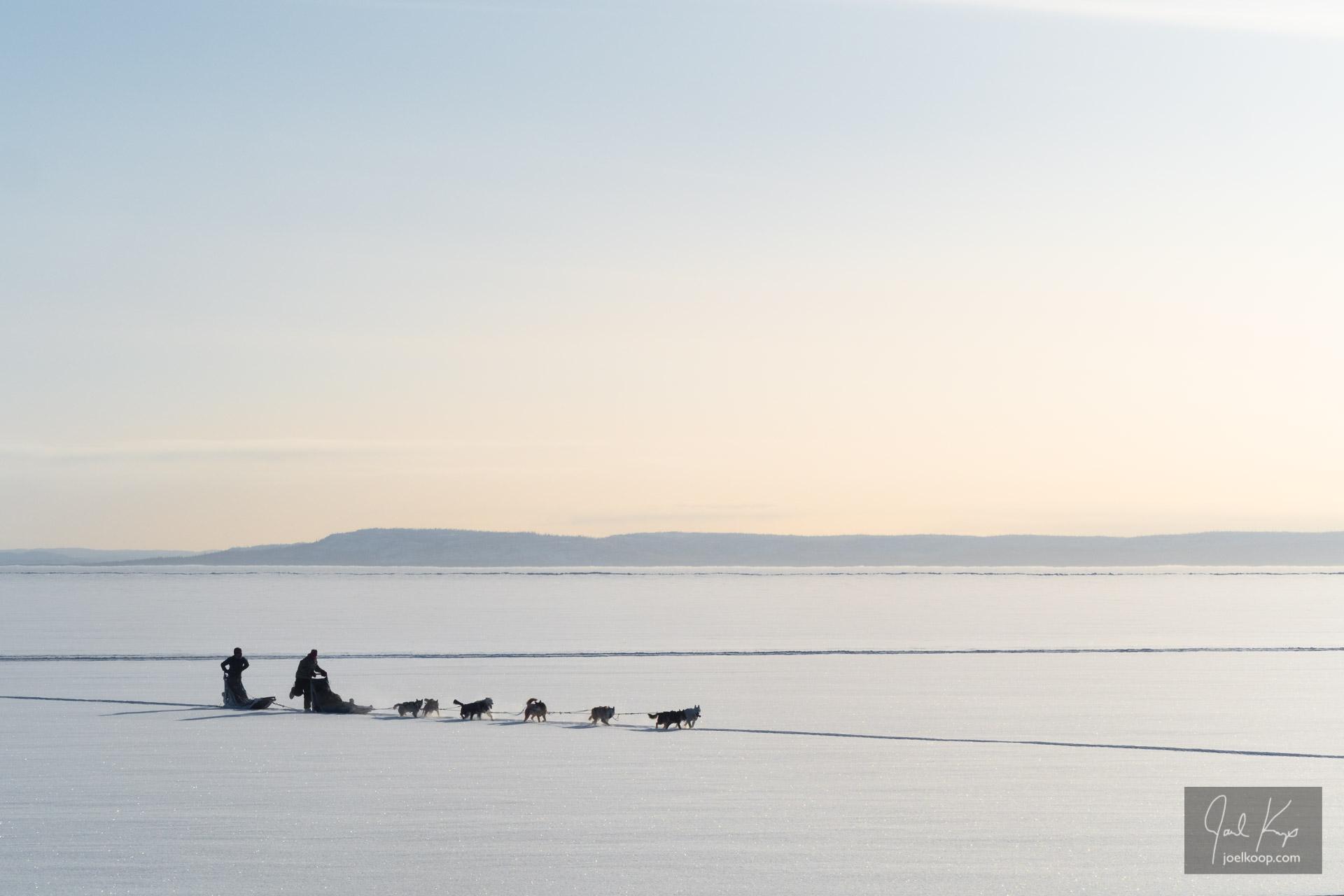 Sledding Across the Lake